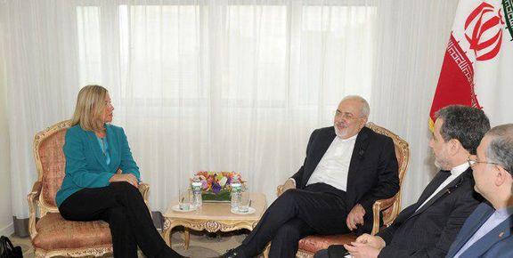 فدریکا موگرینی با محمدجواد ظریف دیدار و گفتگو کرد