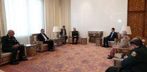 دیدار رئیس کل نیروهای مسلح با بشار اسد