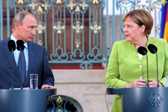 مذاکرات مرکل و پوتین در کاخ کرملین آغاز شد