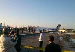 لحظاتی پس از خروج هواپیمای کاسپین از باند فرودگاه در ماهشهر + فیلم