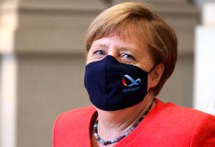 صدراعظم آلمان امروز از ماسک استفاده کرد