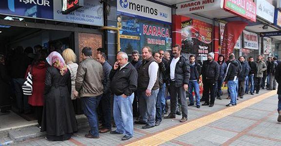 نرخ بیکاری در ترکیه به 14.7 درصد رسید /  بالاترین نرخ بیکاری از سال 2009 در ترکیه