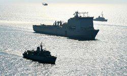 رزمایش دریایی نیروی های امریکا و انگلیس