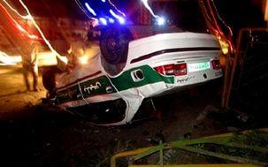 تصادف خونین خودروی نیروی انتظامی در رودبار/ 2 مامور به شهادت رسیدند