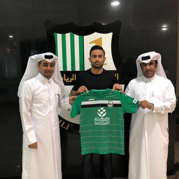 تصویر امید ابراهیمی در باشگاه الأهلی قطر