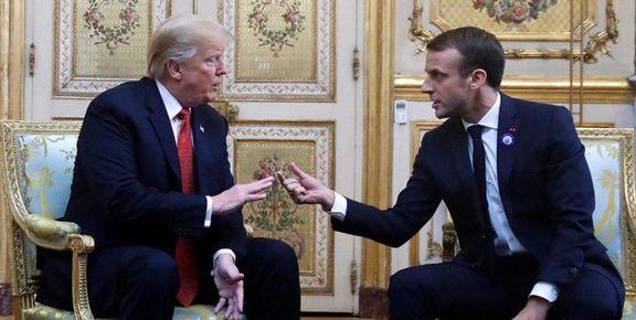 واکنش ترامپ به تلاش مکرون برای کاهش تحریمها علیه ایران