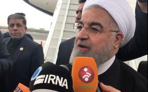 سخنان روحانی در بدو ورود به نیویورک/ تخلفات آمریکا به تعهدات بین المللی را تبیین می کنیم
