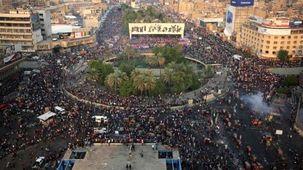 تظاهرات های عراق دست آویزی برای آمریکا شد