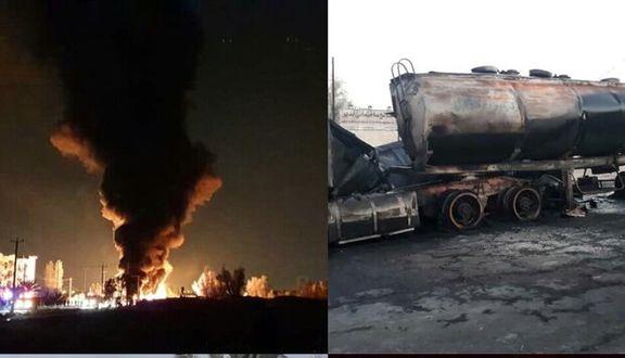 تصادف تانکر حمل سوخت و تریلر/  یک کشته و ۴ مصدوم
