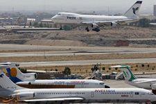 خودروی کترینگ با بال هواپیما در فرودگاه مهرآباد برخورد کرد