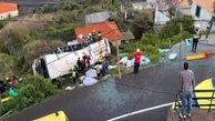 واژگونی اتوبوس حامل گردشگران در پرتغال /  ۲۸ نفر کشته شد