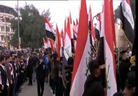 تظاهرات میلیونی مردم عراق علیه حضور نظامیان آمریکایی+ فیلم