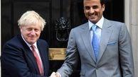 امیر قطر با بو.ریس جانسون در لندن دیار و گفتگو کرد
