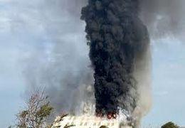 آتش سوزی گسترده در ساسکس انگلیس