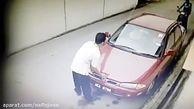 سرقت باتری خودرو در 20 ثانیه + فیلم