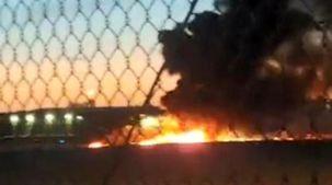 سقوط یک فروند هواپیمای مسافربری در لس آنجلس آمریکا