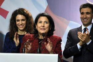 نخستین رئیس جمهور زن در گرجستان  سوگند یاد کرد