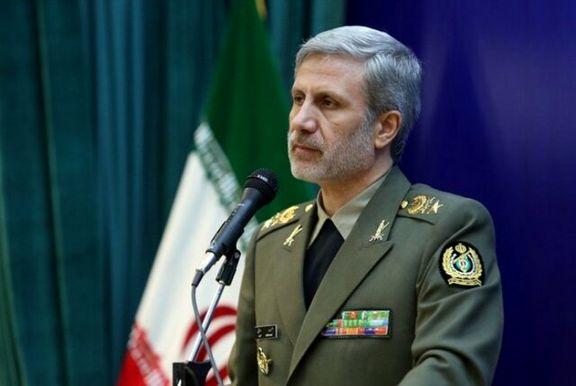 خط و نشان وزیر دفاع برای امریکا: هیچکس نمی تواند مزاحمتی برای کشتی های ایرانی ایجاد کند