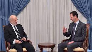 دیدار بشار اسد با وزیر امور خارجه عراق