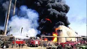 پالایشگاه شهید تندگویان تهران دچار آتشسوزی شد