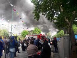 آتش سوزی بزرگ در بازار پاچنار