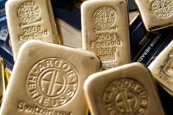اُفت قیمت جهانی طلا متاثر از کاهش سود اوراق قرضه امریکا