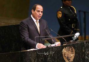 عبدالفتاح السیسی رئیس جمهور مصر در مجمع عمومی: منطقه عربی بیشتر از مناطق دیگر جهان در معرض تجزیه شدن قرار دارد / تنها راه خروج از بحران سوریه بازگشت نهادهای حاکمیتی بر سر کار است