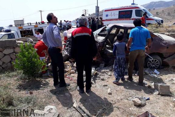 چهار کشته و دو مجروح در تصادف جادهای در خرم آباد