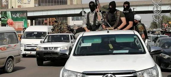 رژه قدرت گروههای  مسلح عراقی و مخالف مذاکره با امریکا در بغداد