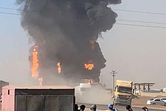 مهار آتش سوزی در گمرک مرزی افغانستان با ایران