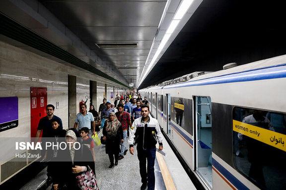 خرابی مترو باعث ازدجام جمعیت بیش از حد در مترو شد
