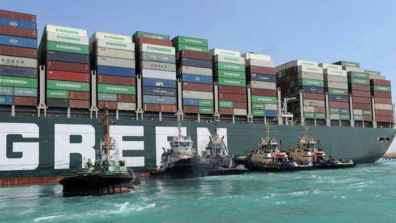 کشتی به گلنشست، کانال سوئز دوباره بسته شد