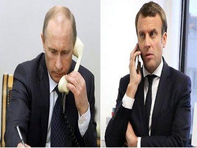 گفتگوی تلفنی ماکرون و پوتین درباره سوریه