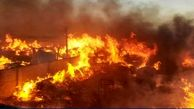 مجتمع فناوران شهرکرد آتش گرفت