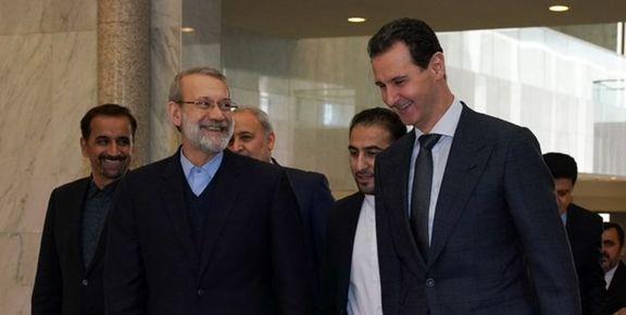 دیدار لاریجانی و بشار اسد در دمشق