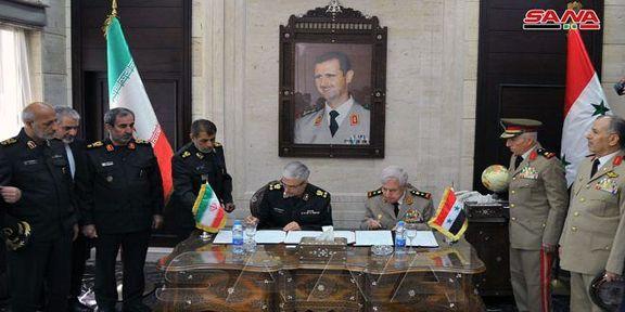 ایران و سوریه یک توافقنامه نظامی با یکدیگر نوشته و امضا کردند