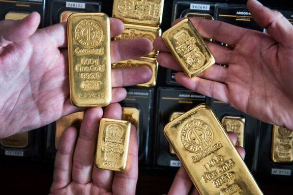 قیمت انس طلای جهانی در رکود رفت