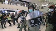 پذیرایی از کارگران معترض هنگ کنگی با گاز اشک آور در روز جهانی کارگر
