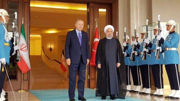 حسن روحانی با رئیس جمهور ترکیه دیدار و گفتگو کرد