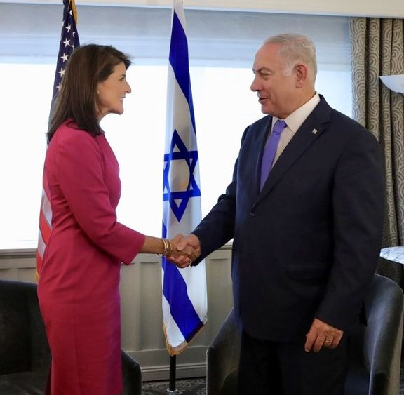 بنیامین نتانیاهو از نیکی هیلی تشکر کرد