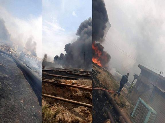 آتش سوزی گسترده در تاسیسات نفتی کرکوک