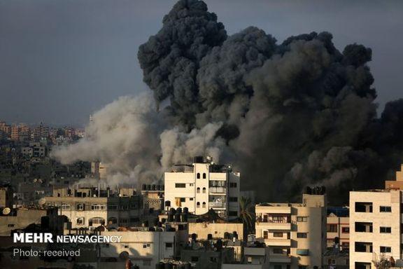 حمله دوباره صهیونیست ها به غزه