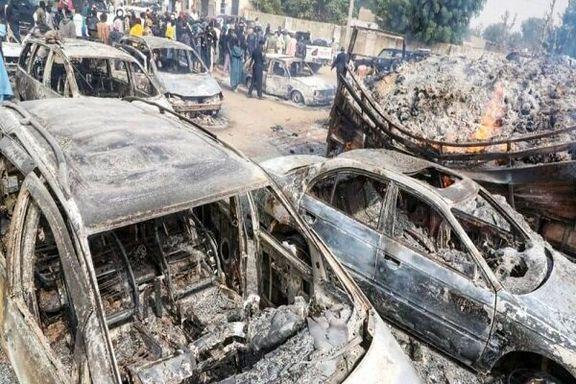 سوزاندن ۳۰ مسافر نیجریه ای در پی حملات شبهنظامیان