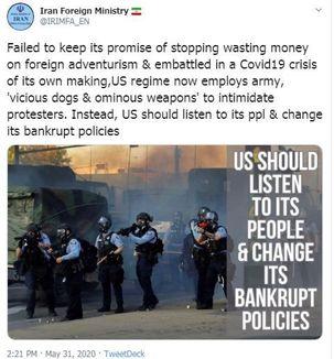 ایران به آمریکا هشدار داد تا صدای شهروندانش را بشنود