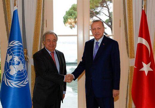 رییس جمهوری ترکیه با دبیر کل سازمان ملل دیدار کرد