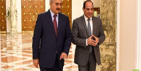خلیفه حفتر با رئیس جمهوری مصر دیدار کرد