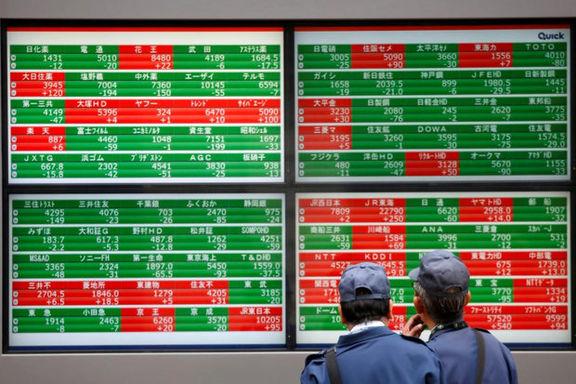 افت سهام آسیا اقیانوسیه تحت تاثیر کاهش رشد تولید در چین