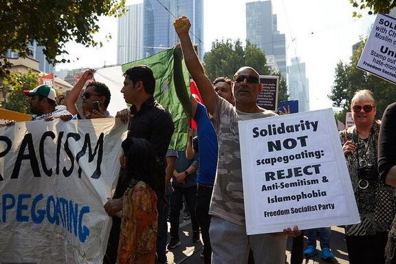 تظاهرات هزاران نفر از مرم ساکن «ملبورن» استرالیا علیه جنایت تروریستی  نیوزیلند