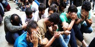 اراذل و اوباش منطقه مهرآباد تهران دستگیر شدند