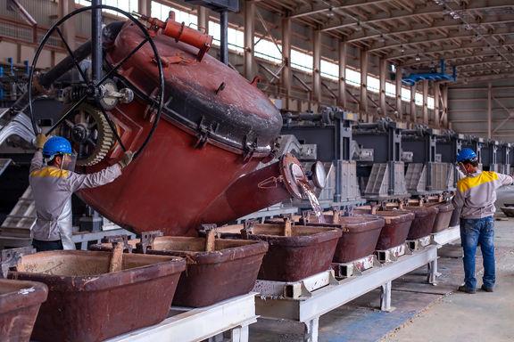 رشد 9 درصدی تولید شمش فولاد و 55 درصدی آلومینیوم در آذرماه